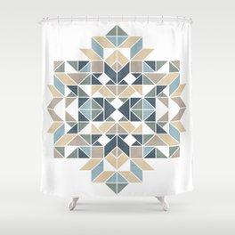 Patchwork inspider pattern 1 Shower Curtain