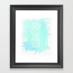Watercolor Paradise  Framed Art Print