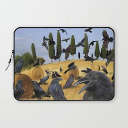 Crows in Tuscany Laptop Sleeve
