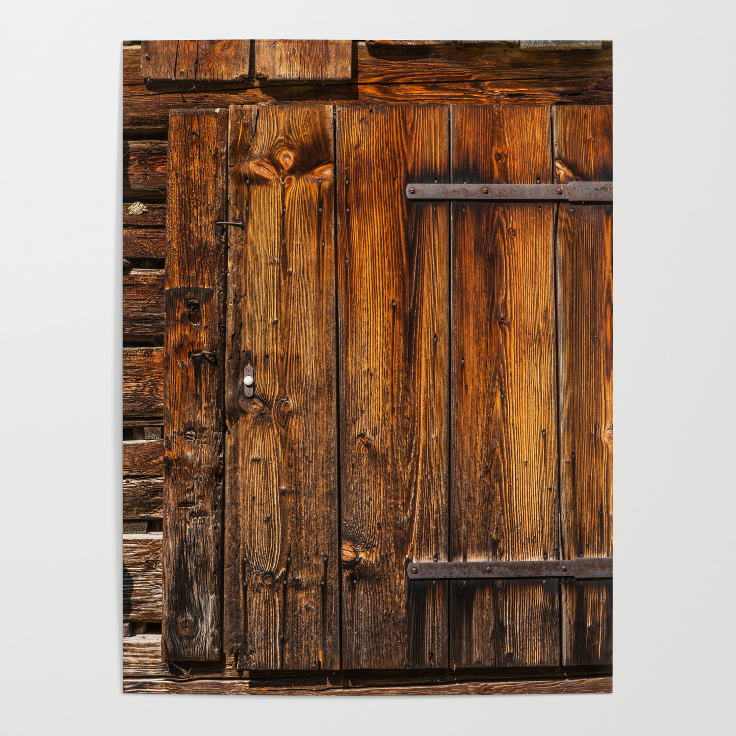 Rustic Barn Door Poster By Marioandias