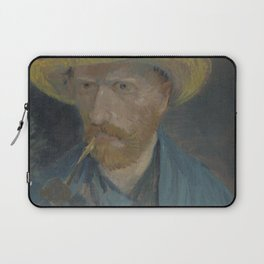 Self-Portrait with Straw Hat and Pipe Laptop Sleeve