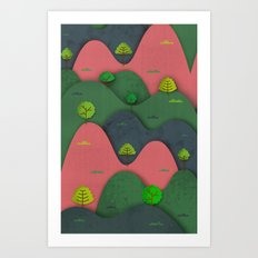 Hills are alive Art Print