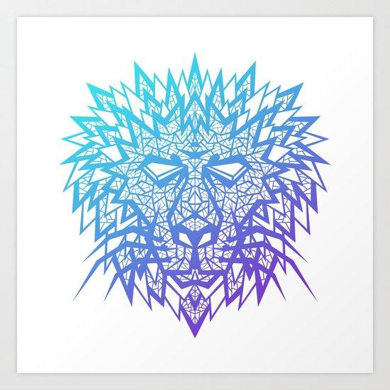 Heart of a Lion Art Print