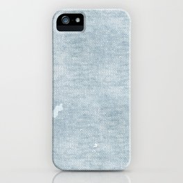 distressed chambray denim iPhone Case