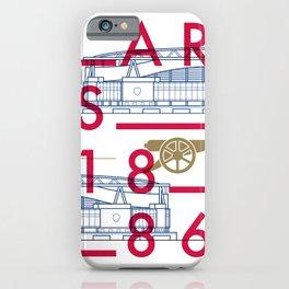 Emirates - Arsenal - Typoline Stadiums iPhone Case