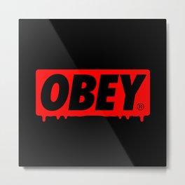 OBEY Bleeding Metal Print