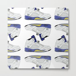 "Jordan ""Laney"" 5 Metal Print"