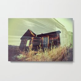 Ghost Town - House in the Field Metal Print
