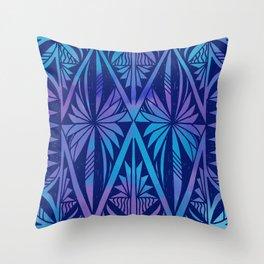 Tapa/Siapo Polynesian bark cloth art (Samoan) Throw Pillow