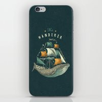 flag iPhone & iPod Skins featuring Whale | Petrol Grey by Seaside Spirit