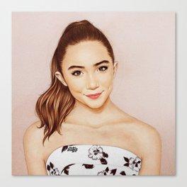 Rowan Blanchard x Glamour Canvas Print