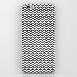 Geometrical hand painted watercolor black chevron iPhone Skin