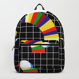 Memphis Grid & Rainbows Backpack