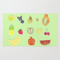 fruits Area & Throw Rugs featuring fruits by Ewa Pacia