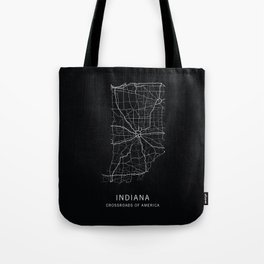 Indiana State Road Map Tote Bag