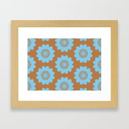 Pinwheel Flowers Framed Art Print