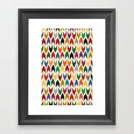christmas arrows ivory Framed Art Print