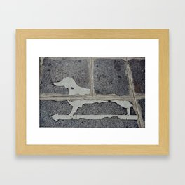 Dogs, This Way Framed Art Print