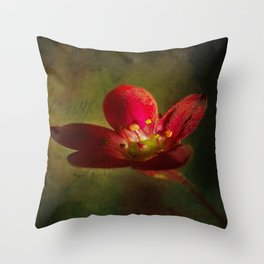 saxifraga floral Throw Pillow