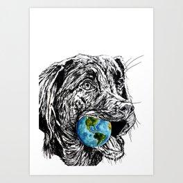 Doglobe Art Print
