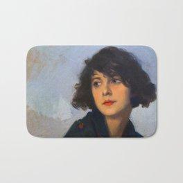 Woman with green shawl (detail), Cyprien Eugène Boulet (1920) Bath Mat