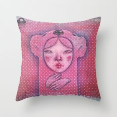 The ghost of you Throw Pillow