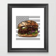 USburger Framed Art Print