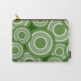 Overlapping Circles in Lime Green Carry-All Pouch