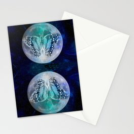 MOON BUTTERFLY Stationery Cards
