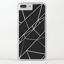 Hand drawn geometrical black white triangles Clear iPhone Case