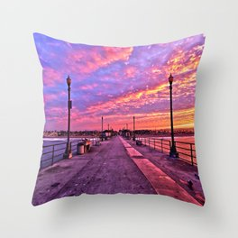Sunrise Huntington Beach Pier   11/12/13 Throw Pillow