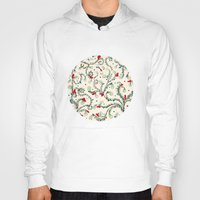 floral pattern Hoodies featuring Floral pattern by nefos