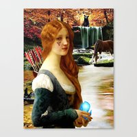 pixar Canvas Prints featuring Brave - Pixar Merida Nouveau by Danielle Tanimura