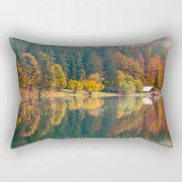 Autumn foliage at the alpine lake Rectangular Pillow