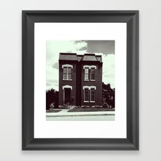 She's A Brick House (b&w) Framed Art Print