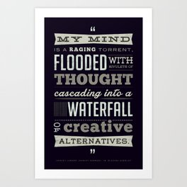 Funny Movie Quote from Blazing Saddles by Harvey Korman Art Print