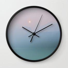Pastel Sunset at Lake Louise Wall Clock