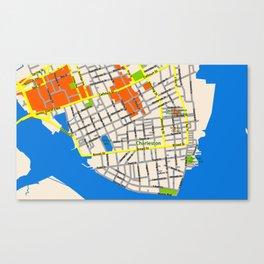 Map of Charleston, SC Canvas Print