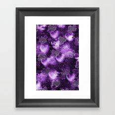 Light Bulb Hearts Series (purple) Framed Art Print