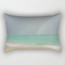 Double rainbow Punta cana Rectangular Pillow