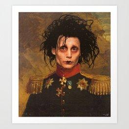Edward Scissor Hands General Portrait Art Print