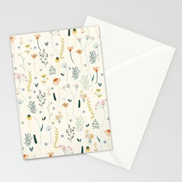 Vintage Inspired Wildflower Print Stationery Cards