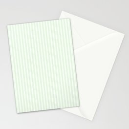 Classic Small Spearmint Mint Pastel Green French Mattress Ticking Double Stripes Stationery Cards