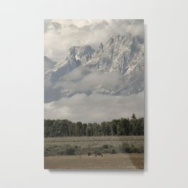 Dwarfed by Mountains Metal Print