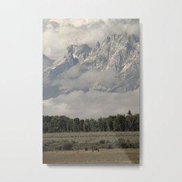 Dwarfed by Mountains Metal Print