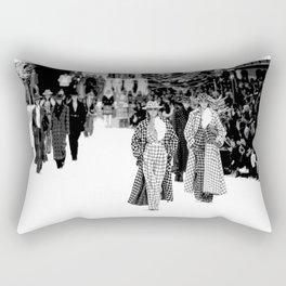iconic karl looks black and white Rectangular Pillow
