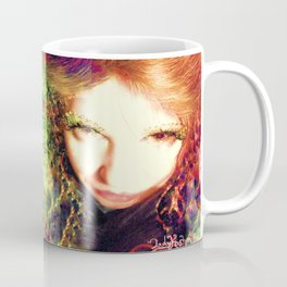 Fairy feather wood nymph ladykashmir painting , Art Print by ladykashmir Coffee Mug