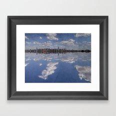 Linear Sky Framed Art Print