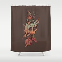 et Shower Curtains featuring Mors et Natura by Norman Duenas