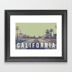 California On the Tracks Framed Art Print
